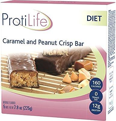 ProtiLife Caramel & Peanut Crisp Bar, 5 Bars, Net Wt. 7.9 oz by ProtiLife