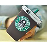 Starbucks Glace 3D Coque souple en Silicone, marron, iPhone 5/5S
