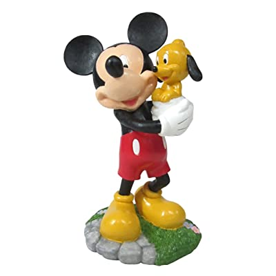 Design International Group LDG88913 Garden Statue, 12 by 8-Inch, Mickey and Puppy Pluto 2014 : Garden & Outdoor