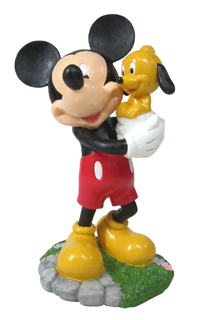 Design International Group LDG88913 Garden Statue, 12 by 8-Inch, Mickey and Puppy Pluto 2014