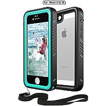 [Patrocinado] Impermeable teléfono celular iphone 5S y 5se, moskee alta precisión Full Body Underwater–Carcasa protectora con la huella (Shockproof Sensible/Dustproof/snowproof/dirtproof)