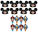 mickey mouse cone hats - Disney Mickey Mouse and Friends Birthday Party Favors Pack Including Blowouts, and Party Ear Cone Hats - 8 Guests