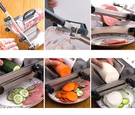 CGOLDENWALL Manual Frozen Meat Slicing Machine Small Stainless Steel Beef/Mutton Roll Slicer Meat shaving machine Hand-operated Meat Slicer Household Cutting Machine (202 stainless steel) by CGOLDENWALL (Image #4)