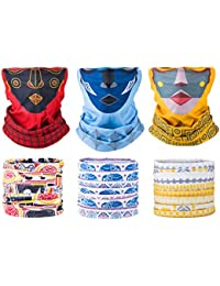 6 Pack, Women's Multifunctional Seamless Face Tube Mask Headband Bandana Scarf for Outdoors, Yoga, Cycling, Skiing...