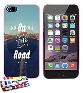 Carcasa Rigida Ultra-Slim APPLE IPHONE 5S / IPHONE SE de exclusivo motivo [On the Road] [Rosa] de MUZZANO  + ESTILETE y PAÑO MUZZANO REGALADOS - La Protección Antigolpes ULTIMA, ELEGANTE Y DURADERA para su APPLE IPHONE 5S / IPHONE SE