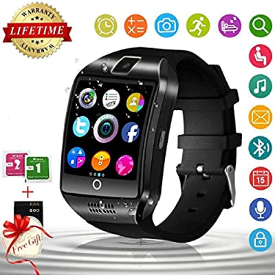 Reloj Inteligente Bluetooth, Impermeable Smart Watch Reloj Deportiva Inteligente con Camara, SIM/TF Ranura, Monitor de Sueño, Podómetro Fitness ...