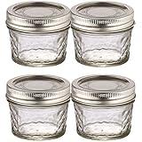 BALL MASON JARS Preserving Homemade Jam Gift Jars, Transparent, 135 ml, Pack of 4