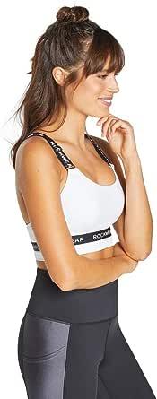 Rockwear Activewear Women's Mi Logo Cross Back Sports Bra From size 4-18 Medium Impact Bras For