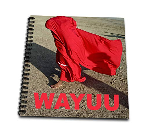 3dRose Kike Calvo Colombia Folklore and Traditions - Red Wayuu Indigenous People - Drawing Book 8 x 8 inch (db_299409_1) from 3dRose