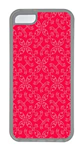 IMARTCASE iPhone 5C Case, Pink Paisley Pattern Case for Apple iPhone 5C TPU - White