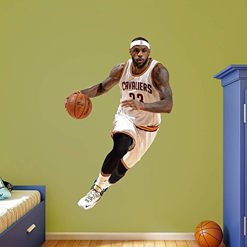 NBA Cleveland Cavaliers LeBron James 2015-2016 Real Big Photo by Fathead Peel and Stick Decals
