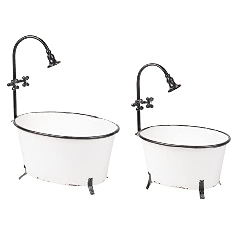 sale uk good looking good out x Foreside FBAB03974 Antique Bathtub Planters, 2 Piece