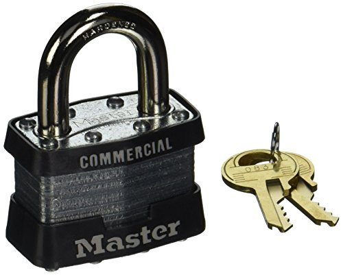 No 1 Laminated Steel - Master Lock 470-1DCOM No. 1 Laminated Steel Pin Tumbler Padlocks, 5/16