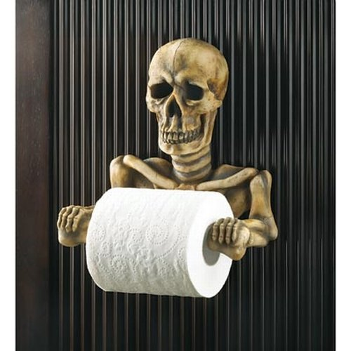 Skull Bathroom Accessories Skeleton Toilet Roll Holder