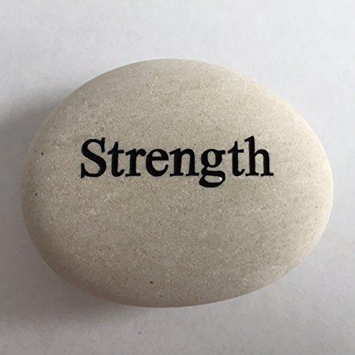Engraved River Rocks - Strength Engraved Stone River Rock- 2