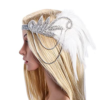 Zhisheng You Art Deco Inspired Gatsby Crystal Flapper Headband 1920s Headpiece Vintage Wedding Accessories