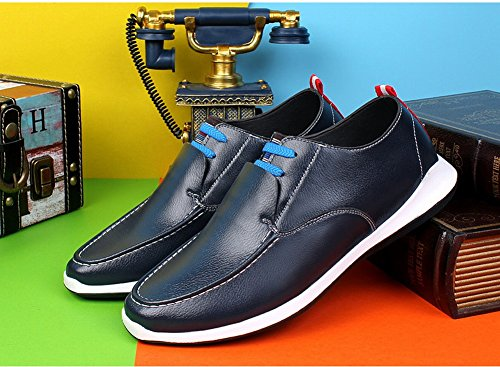 Charm Foot Hombres Comfort Daily Leisure Business Loafer Flats Azul
