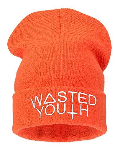 4sold día en mala el pelo DESOBEDECER * CKDOWN COMME DES F OFWGKTA binnie pierde gafas con para niños gorro de T-camiseta bieber justin piedras de la bandera de sombreros de verano soporte de alambre noir - Wasted Youth ( noe orange)