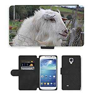 Super Stella Cell Phone Card Slot PU Leather Wallet Case // M00104472 Goat Farm Campaign Animal // Samsung Galaxy S4 S IV SIV i9500