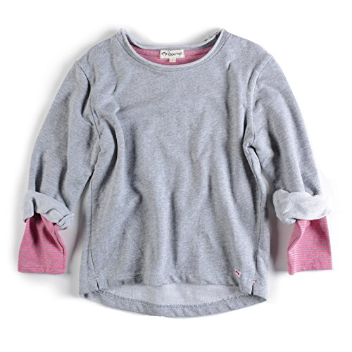 Price comparison product image Appaman Girl Combo Sweatshirt in Heather Mist, 8 (Heather Mist)