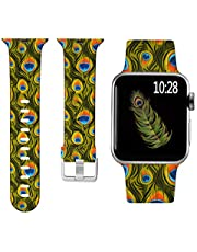 Laffav Compatible with Apple Watch Band 41mm 40mm 38mm 45mm 44mm 42mm for Women Men, Soft Silicone Sport Pattern Replacement Strap Compatible with iWatch SE Series 7 & Series 6 5 4 3 2 1