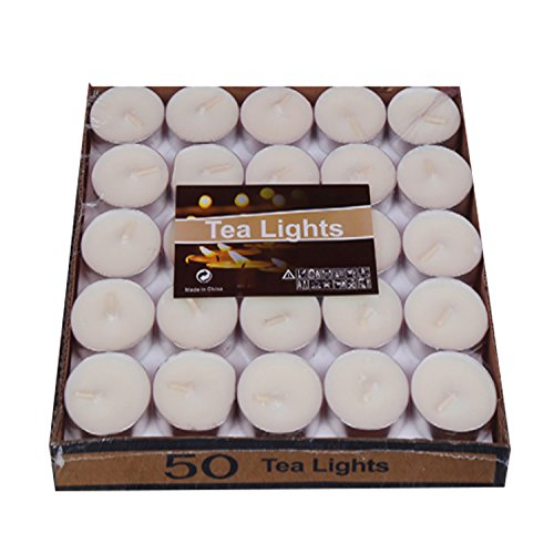 AIFUSI Votive Candle Tea Lights Box of 25 for Wedding Birthday Holiday Home Decoration