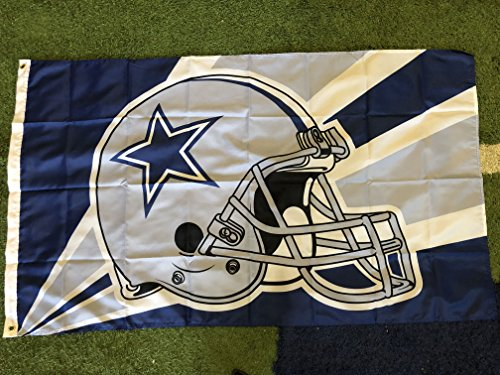 Dallas Cowboys Helmet Logo 3x5 Flag-America's Team
