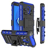 MMDcase Alcatel TCL LX Case/Alcatel 1X Evolve/Alcatel IdealXtra Phone Case [Kickstand+Belt Clip Holster],Heavy Duty Shockproof Dual Layer Full-Body Protective Hybrid Phone Cover for Men/Women,Blue