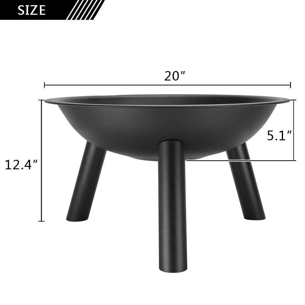 Amazon.com: Bonnlo - Bol de chimenea de 20 pulgadas, redondo ...