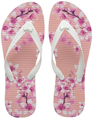 Womens Baker TPU Ted Sandals Pink Print Beaulup Blossom YOwFdT