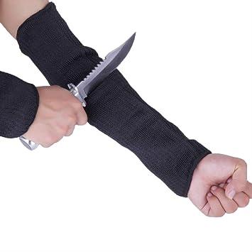 1 Paar Langer Ärmel Anti Cut Handschuh Arbeit Schutzhandschuhe Schnittfeste Arm