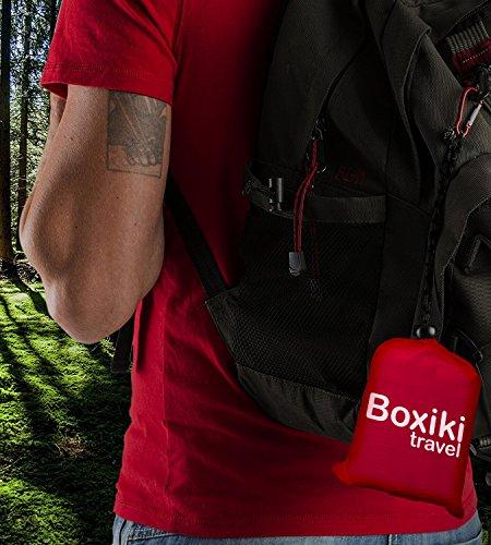 Boxiki Travel Coperta Tascabile da Spiaggia Compatta Impermeabile Pieghevole E Leggera con Custodia Rossa. Coperta per… 5 spesavip