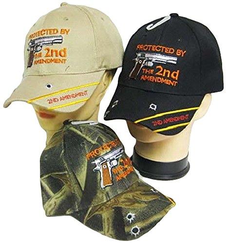 Protected by the 2nd Amendment Guns Bullets Wholesale 3 Colors Lot Cap Hat Wholesale Cap Guns
