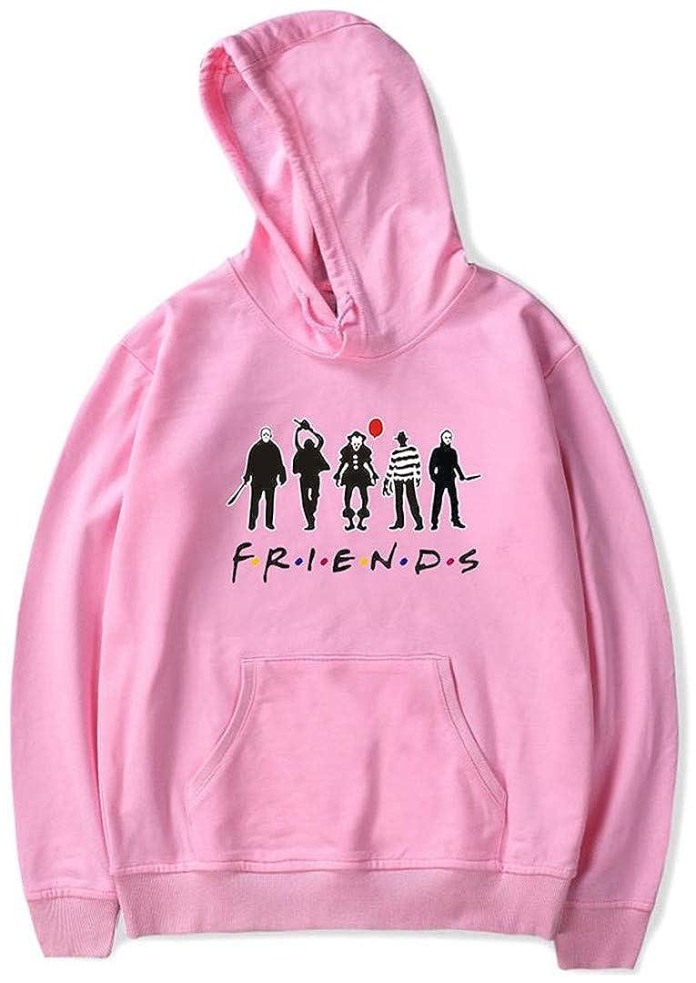 Silver Basic Casual Friends Felpa con Cappuccio Bambina Girocollo Top Girls Sweatshirt