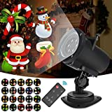 Cheap Christmas Lights Projector Outdoor LED Projection IP65 Waterproof, Landscape Spotlight for Holiday ,Remote Control Motion Image -10W 20 Slides 32ft Power Cable