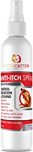 Fitter Critter Chlorhexidine Spray for Dogs & Cats - Anti Fungal, Anti-Itch & Antibacterial w/Aloe - Highly Effective Against Ringworm, Yeast & General Itch & Irritation, Veterinary Grade Formula