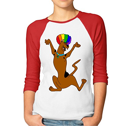 Women's Scooby Doo Circus Afro 3/4 Sleeve Blended
