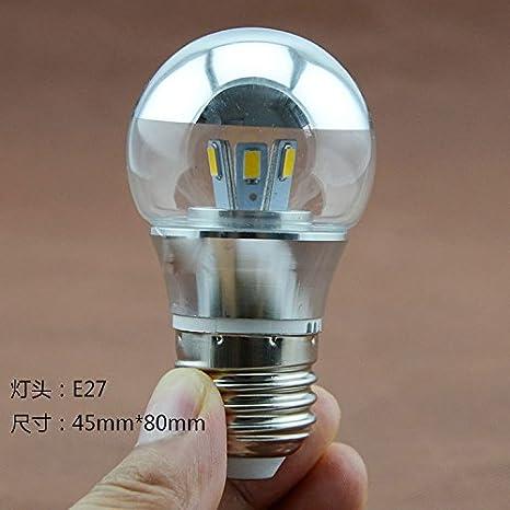 lqxhm-led bombilla mitad mercurio Plating Galvanoplastia bombilla E27 reflector bombillas tornillo: Amazon.es: Iluminación