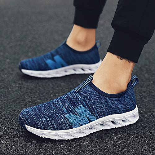 Farjing Men Outdoor Casual Breathable Mesh Comfortable Running Shoes Sneakers(US:10,Blue) by Farjing (Image #4)