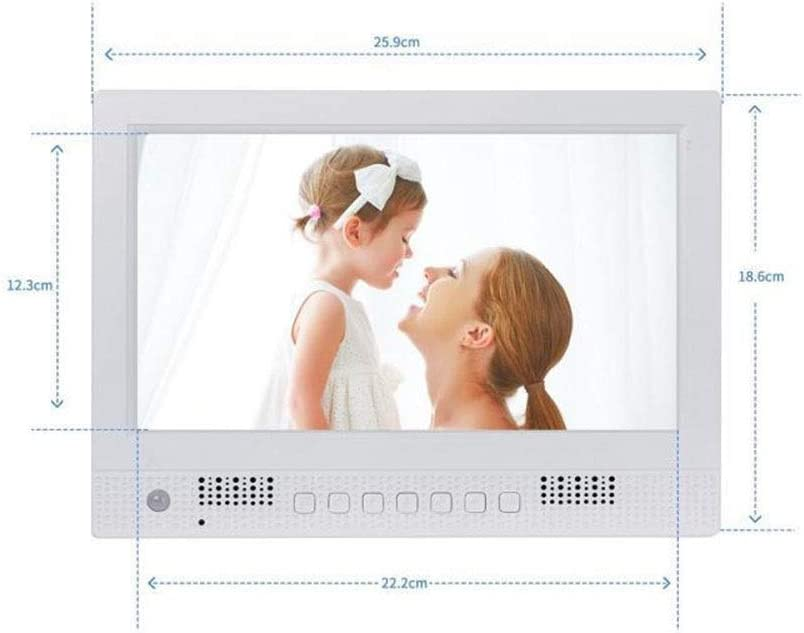 Xiejuanjuan Digital Picture Frame with IPS Display 10 Inch Digital Picture Frame 1024600 Pixels High Resolution High Resolution LED Screen USB and SD Card Slots Aluminum Alloy Ultra-Thin Narrow Side