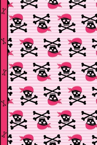 Pink Pirate Girl Skulls and Bones Dot Grid Paper: Writing Journal Notebook To Do List Planner, 130 Dotted Pages 6 x 9 Book, Journaling, Sketching, Taking Notes ()