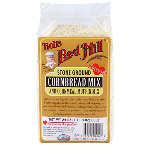 Bob's Red Mill, Stone Ground, Cornbread Mix and Cornmeal Muffin Mix, 24 oz(Pack of 1) (Ground Bread Mix)