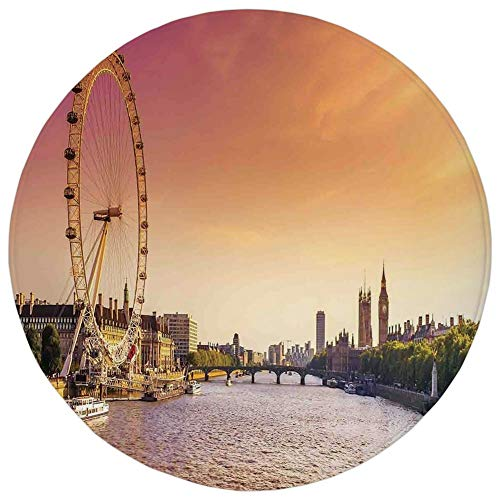 Round Rug Mat Carpet,London,Sunset View Bridge on Thames for sale  Delivered anywhere in Canada