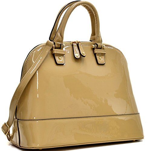 Large Dome Satchel Shell Shape Bag Top Handle Purse Shoulder Handbag by MKY