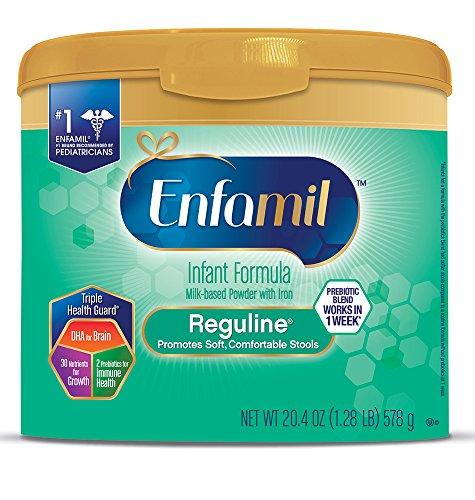 Enfamil Reguline Infant Formula - Designed for Soft, Comfortable Stools - Reusable Powder Tub, 20.4 oz (Pack of (Soft Formula)