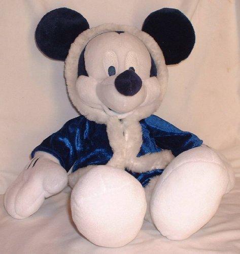 "Disney; Winter Wonderland 15"" Mickey Mouse in Blue Plush"