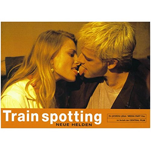 Jonny Lee Miller 8 Inch x 10 Inch Photograph Trainspotting (1996) French Kissing Girl Title Poster kn