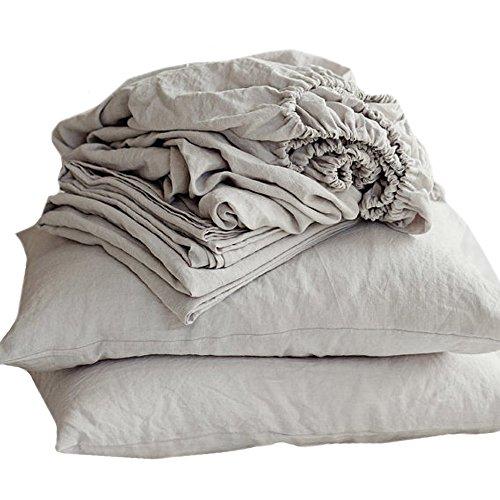 Merryfeel Luxurious 100% Pure French Linen Sheet Set - - Pure Linen