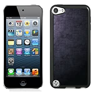 NEW Unique Custom Designed iPod Touch 5 Phone Case With Stone Wall Simple Dark Texture_Black Phone Case
