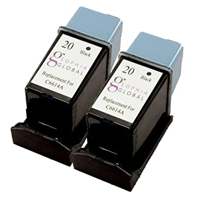 Sophia Global Remanufactured Ink Cartridge Replacement for HP 20